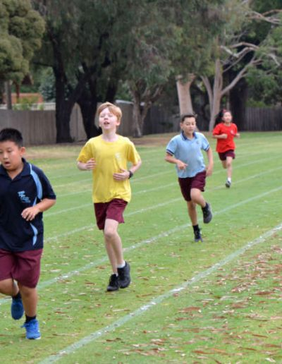 Running Physical Education Weeden Heights Primary School